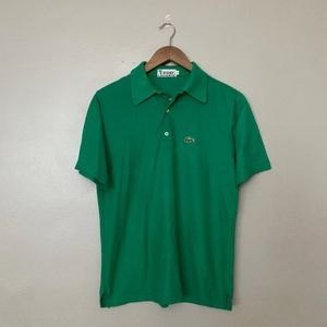 Vintage Izod Lacoste Kelly Green Polo S